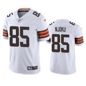 Browns David Njoku White Jersey